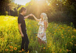 Sunset engagement photos in Duluth, Minnesota