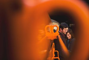 Engagement photos at the Depot in Duluth, Minnesota