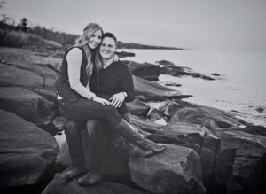 Engagement photos along Lake Superior in Duluth