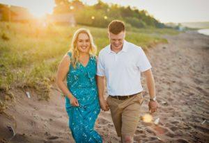Engagement photos along Lake Superior