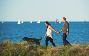 Engagement photos at Park Point in Duluth