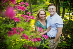 Engagement photos at Enger Park in Duluth