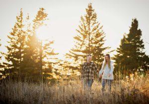 Engagement photos at Gooseberry Falls