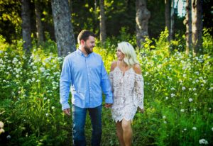 Engagement photos at Lester Park in Duluth